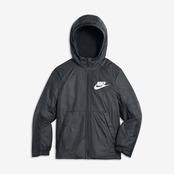 nike fleece lined jacket